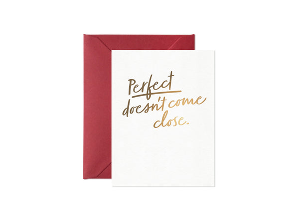 Perfect Doesn't Come Close, Happy Thoughts Card