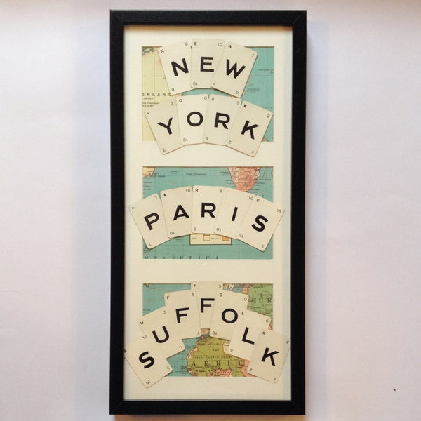 Favourite Places Vintage Playing Cards Wall Art by Ivy Joan