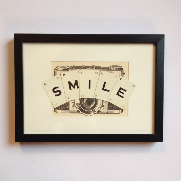 Smile Vintage Playing Cards Wall Art by Ivy Joan