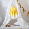 girls dress made with sustainable cotton in yellow