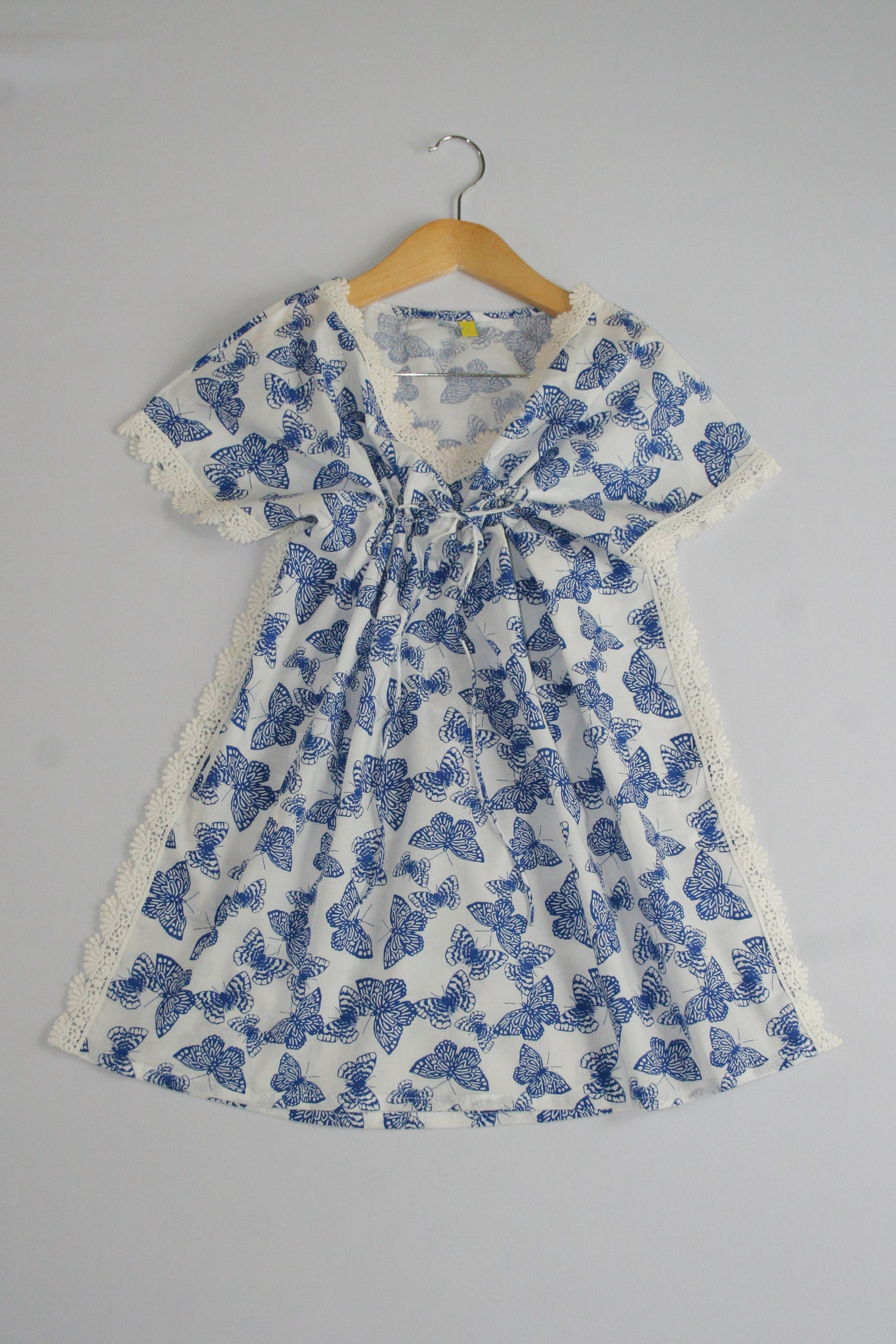 Girls Kaftan - Blue Lace