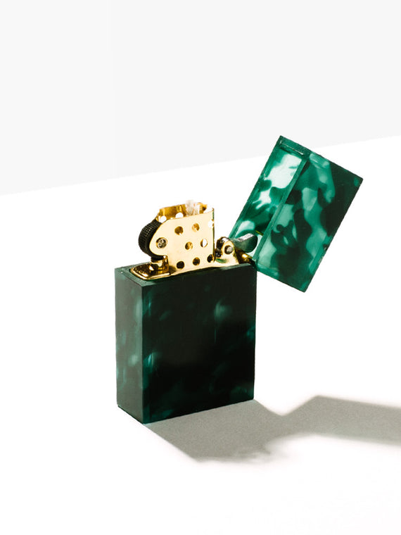 Green Marble Lighter Photo