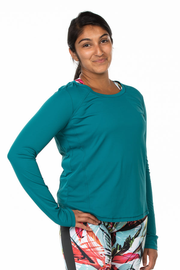 Brisa Top | teal sea