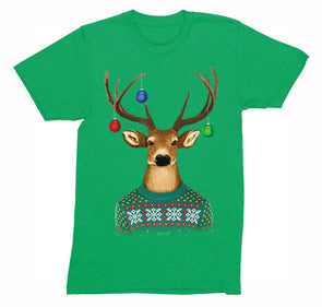 917c5ab38 Free Shipping Mens Reindeer Wearing Sweater Ornaments Ugly Christmas  Sweater Winter Santa Holiday Snowman Gift Crewneck