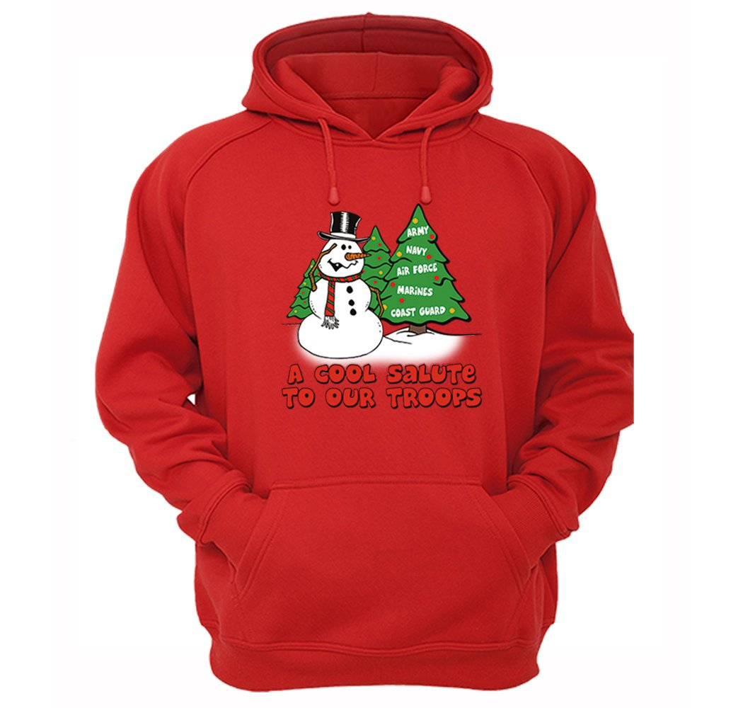 the best attitude 2e248 8786f XtraFly Apparel Men's Snowman Salute Our Troops Army ...
