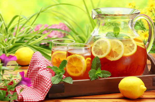 Several fruit tea recipes
