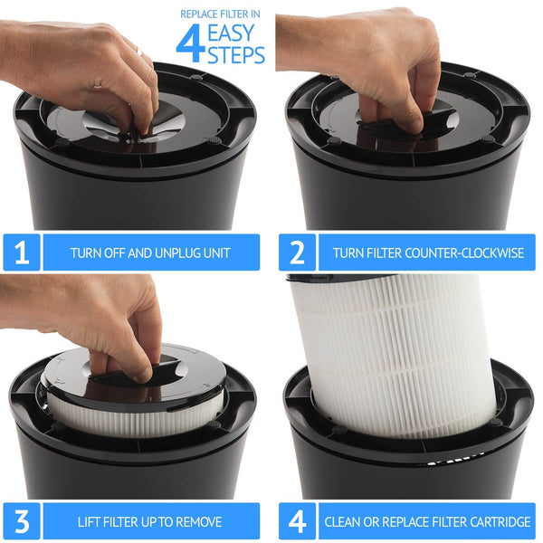 True HEPA Filter Replacement for 5-Speed Air Purifier