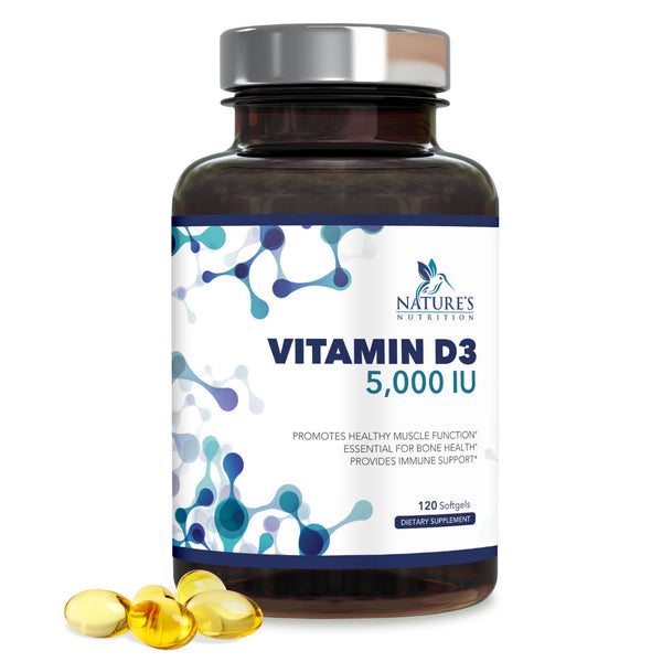 Vitamin D3 5,000 IU - Max Potency