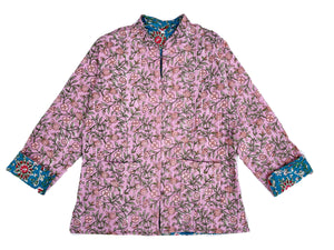 Chaqueta reversible lila azul ı INDIA