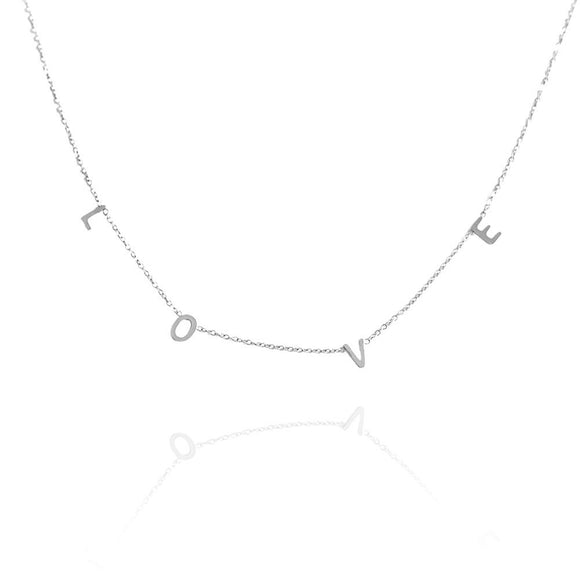 COLLAR  CHOKER LOVE ı PLATA