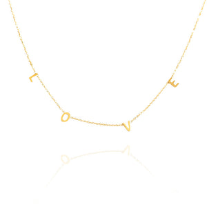 COLLAR  CHOKER LOVE ı ORO