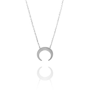 COLLAR LUNA INVERTIDA | PLATA