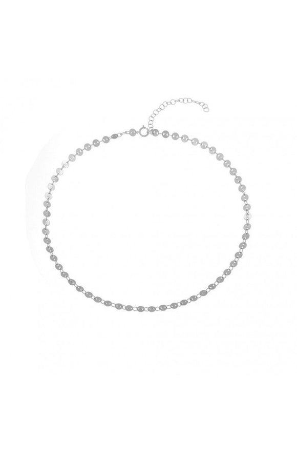 COLLAR CHOKER CHAPITAS ı PLATA - The wild stone
