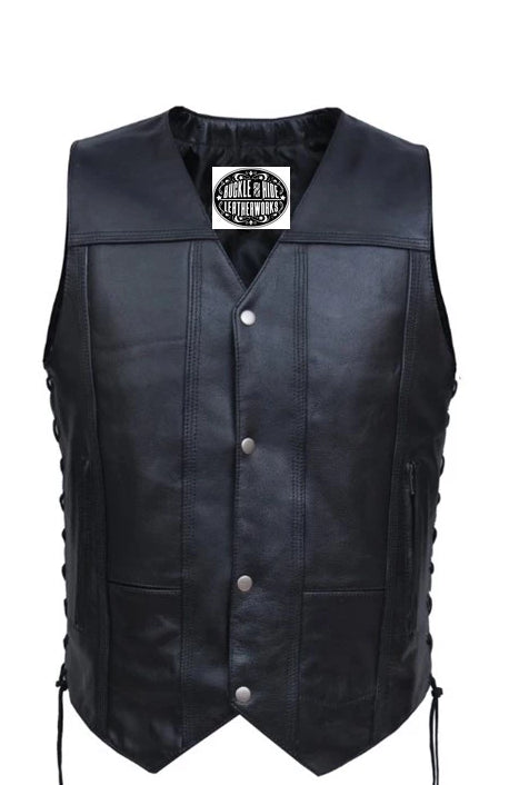 Tall Men's Leather Vest