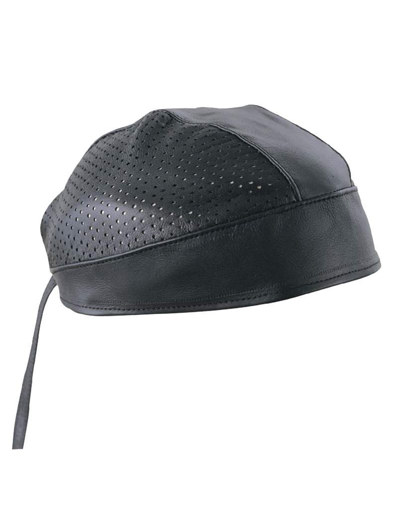 Perforated Leather cap