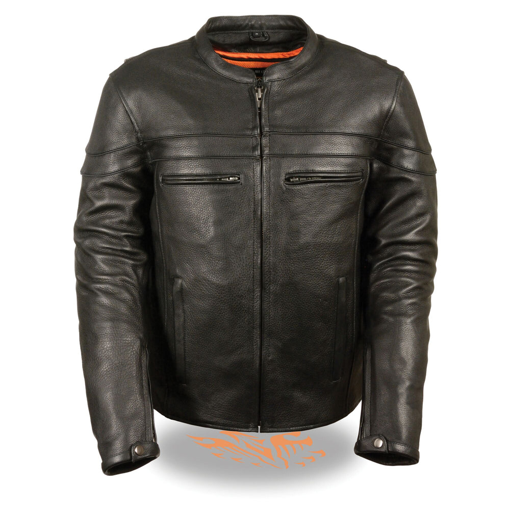 Ladies Sporty Scooter Leather Jacket