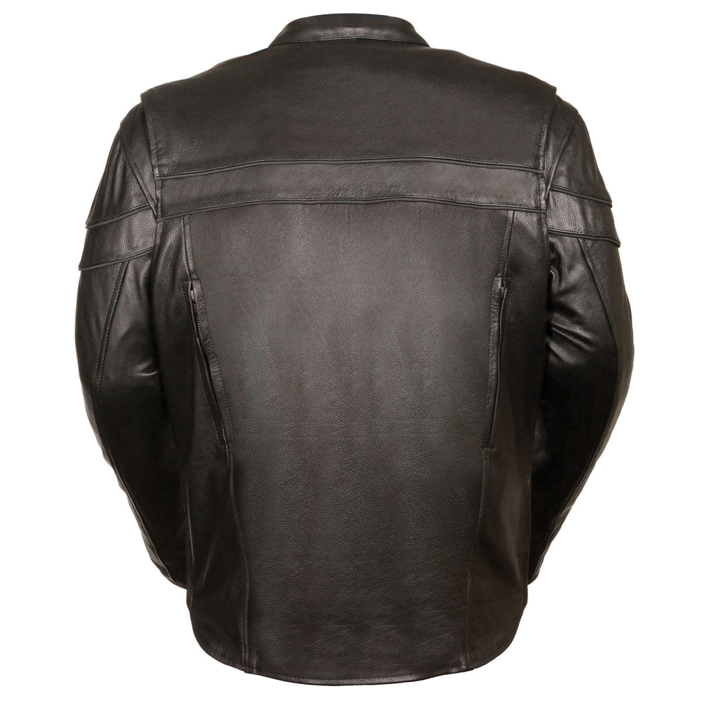 Men's Sporty Scooter Leather Jacket