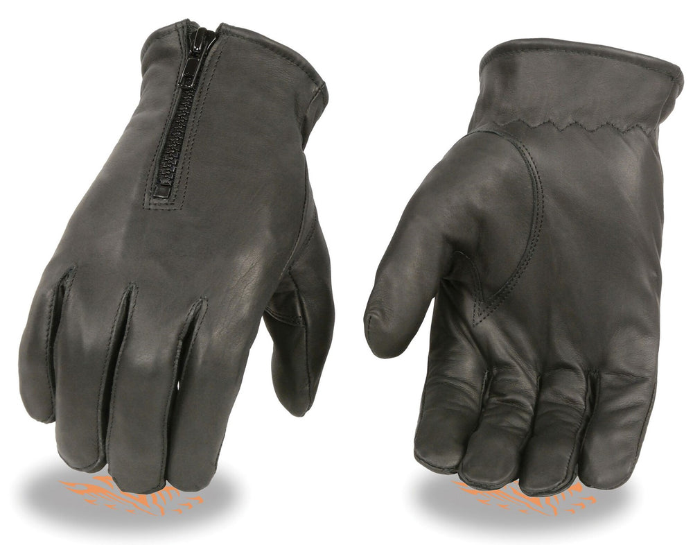 Leather Zipped Gloves