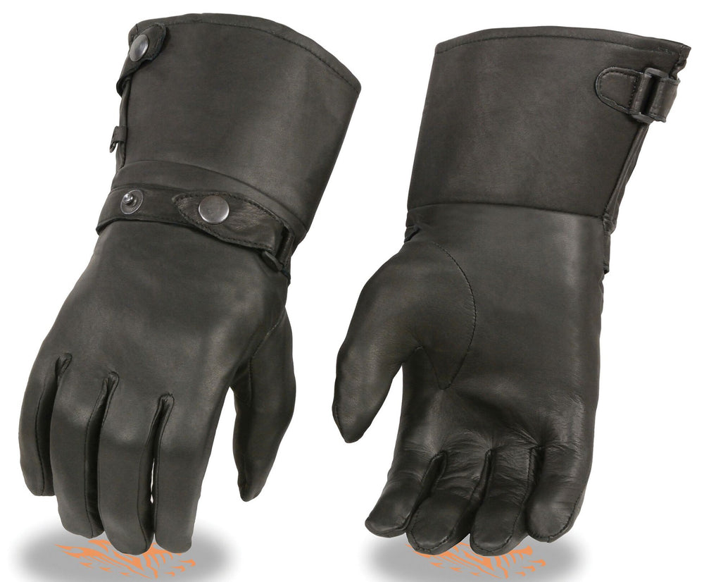 Lightweight Gauntlet Leather Gloves