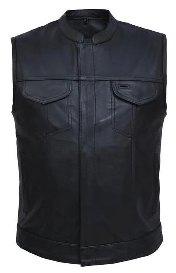leather club vest