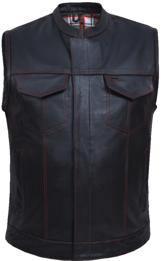 Premium Club Style Vest with RED stitch
