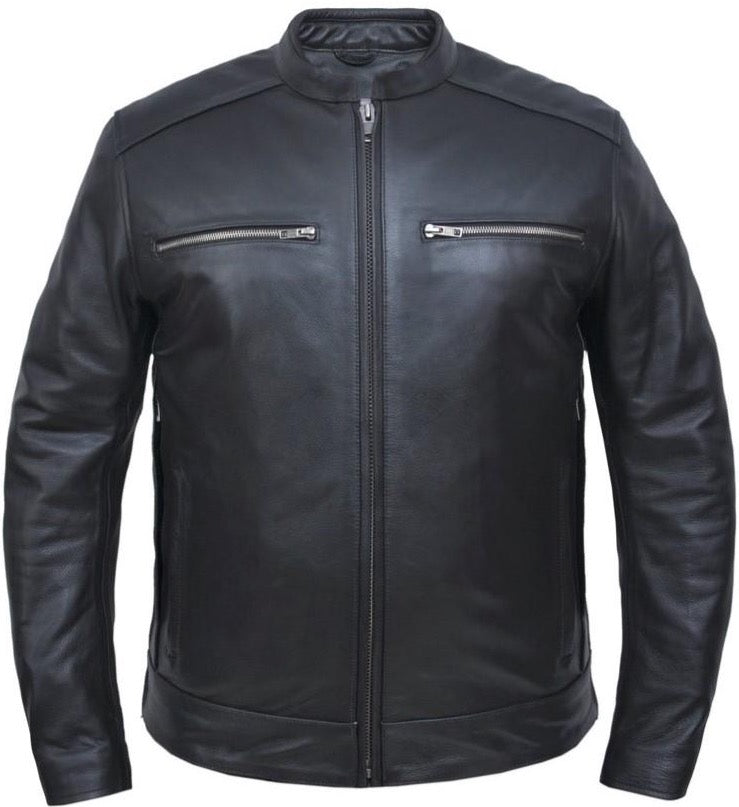 Men's Cowhide Leather Jacket