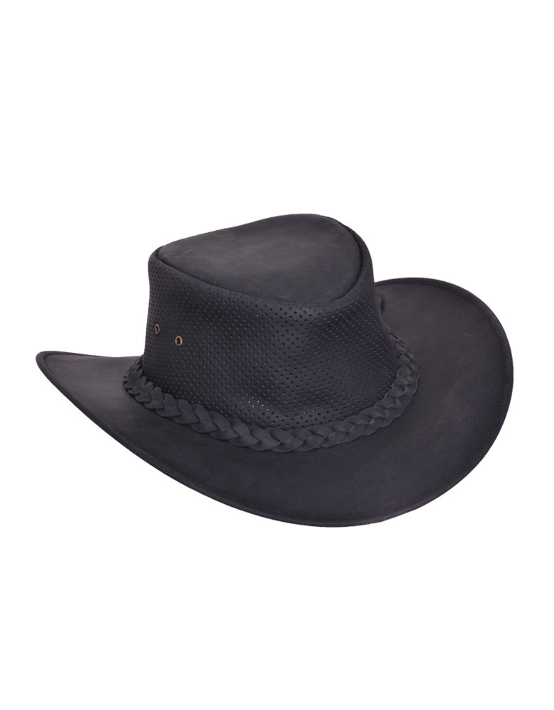 Leather Vented Outback Hat
