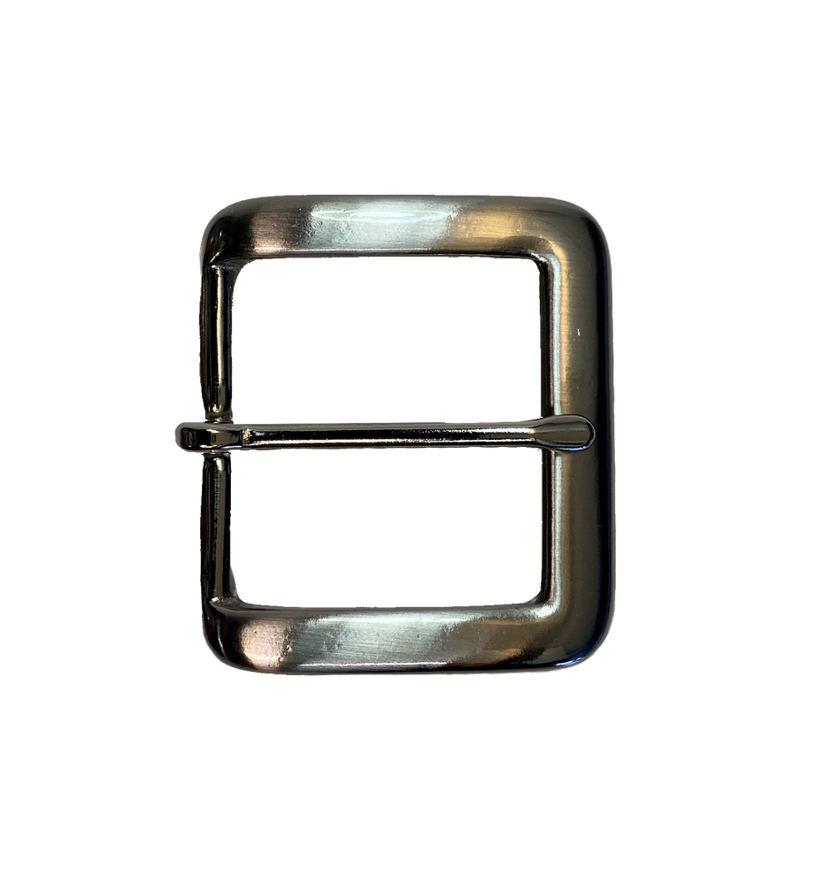 "We use this buckle on most of our belts. Plated over SOLID brass in a popular Antique finish that looks great with so many things. Fits any of our snapped 1 1/2"" belts."