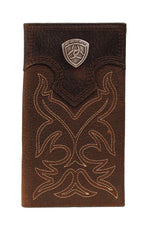 Ariat Boot Stitch Brown Rodeo Wallet