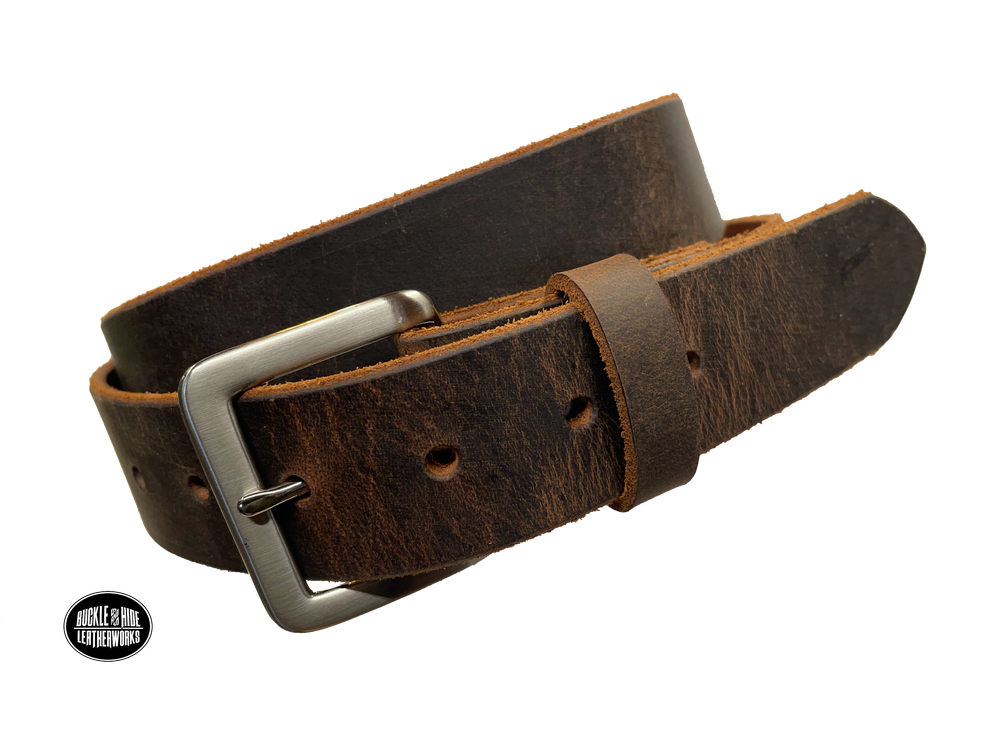 """The Trigger"" Brown Leather Belt"