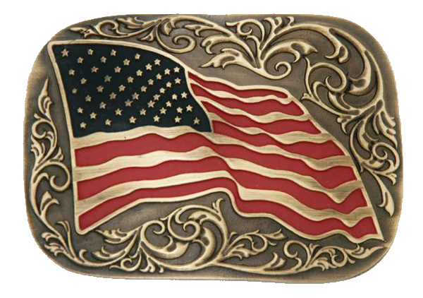 Flying American Flag Buckle