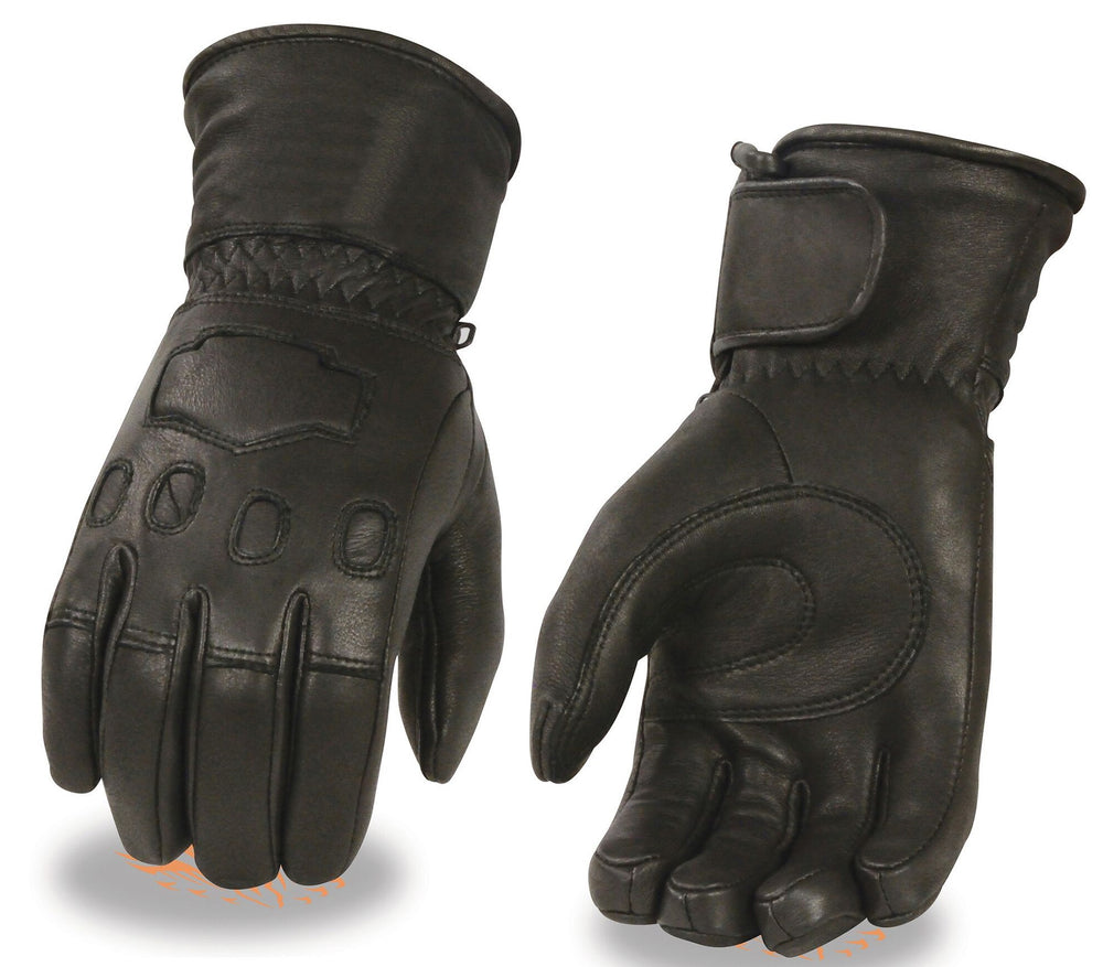 leather guantlet glove