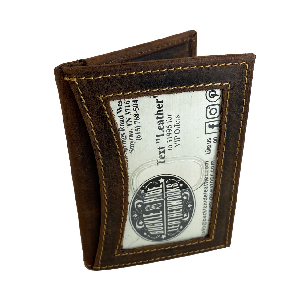 RFID Front pocket Wallet with double I.D.