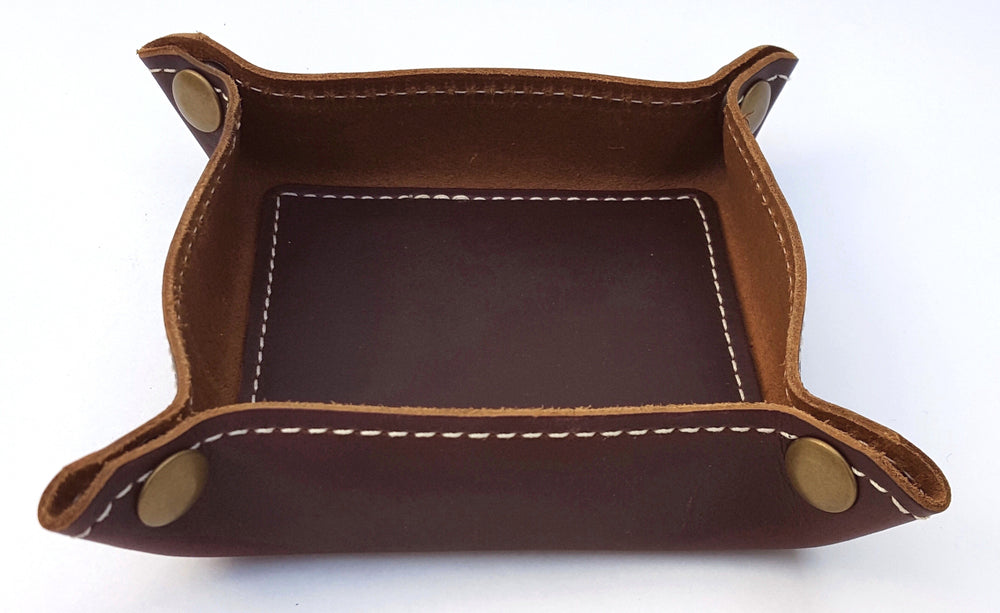 Leather Travel Valet Tray