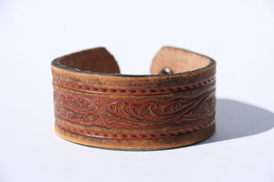 Distressed Western Pattern Cuff