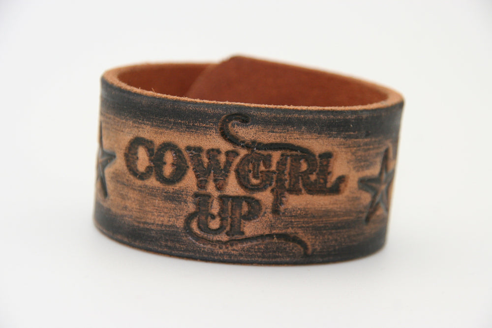 Leather Cowgirl Up Cuff