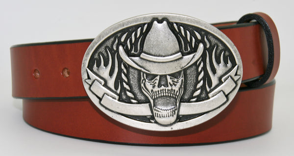 Cowboy Skeleton Belt Buckle