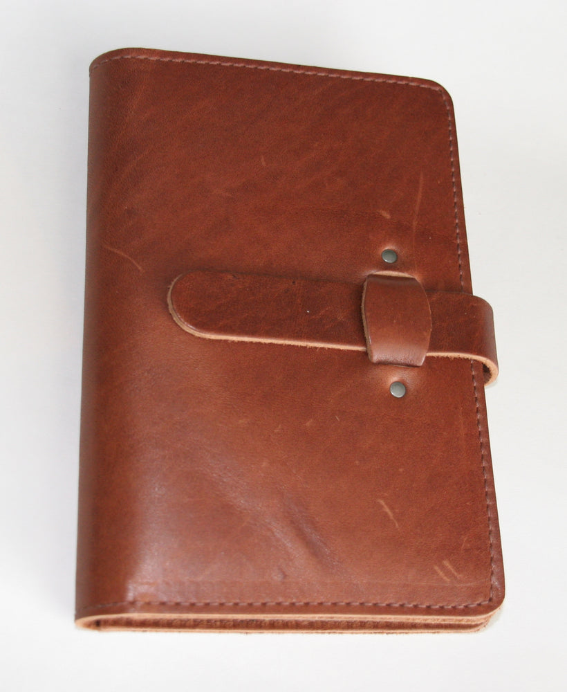 Leather planner front