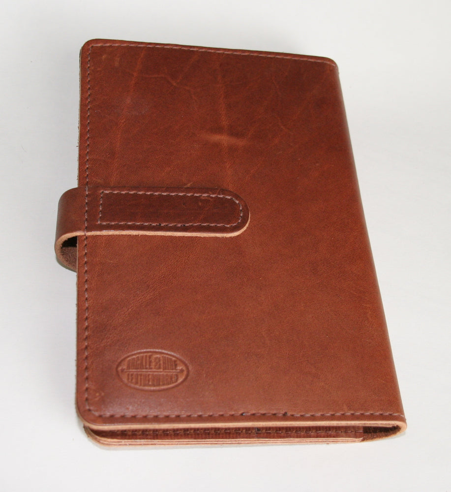 Leather planner back