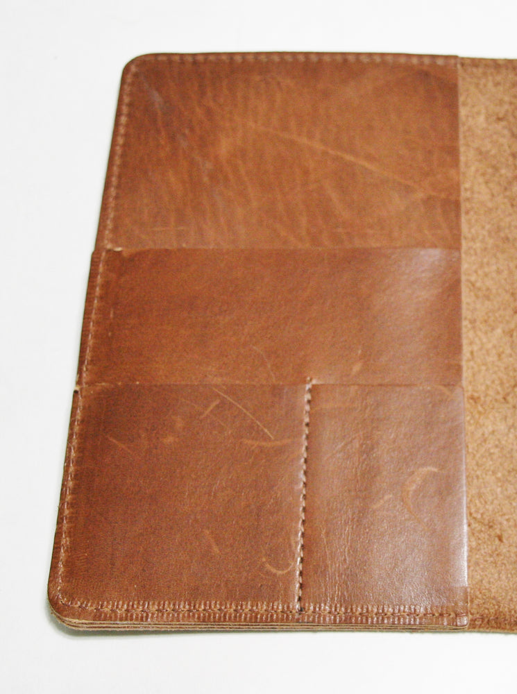 Leather planner left front