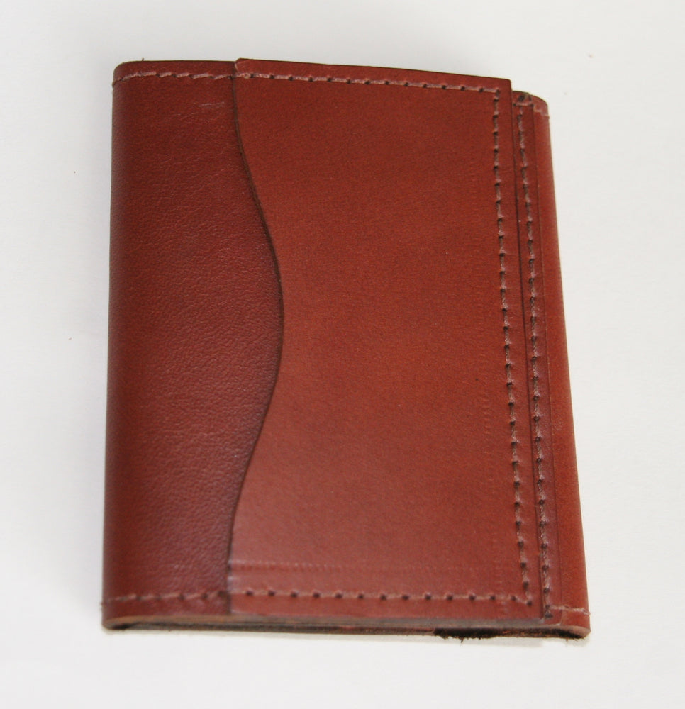 Minimal trifold wallet card pocket