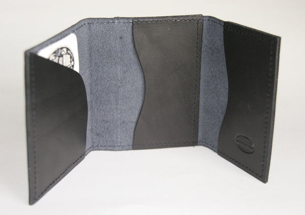 Minimal trifold wallet black inside