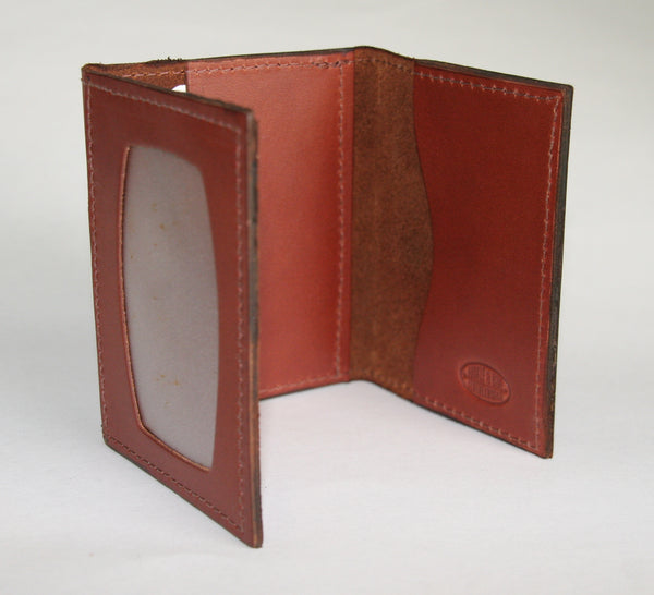 Minimal trifold wallet medium brown