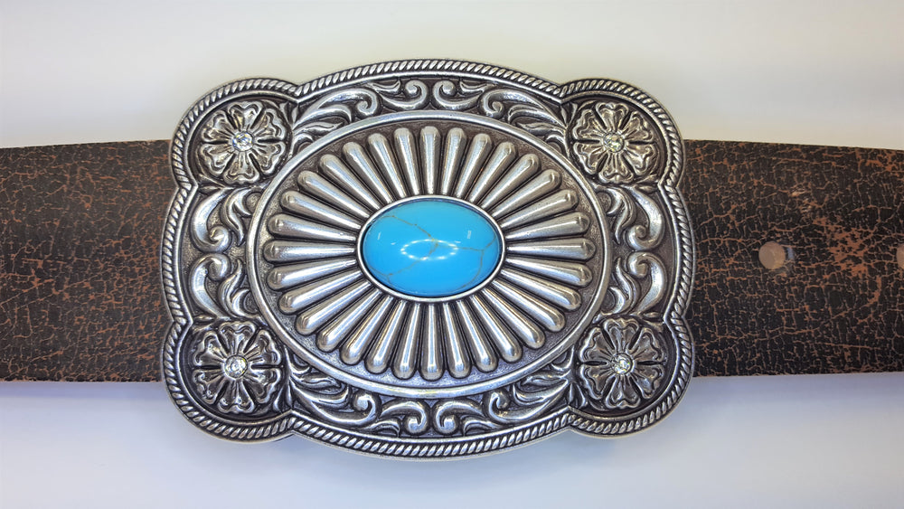 Nocona Turquoise Stone Ladies Buckle