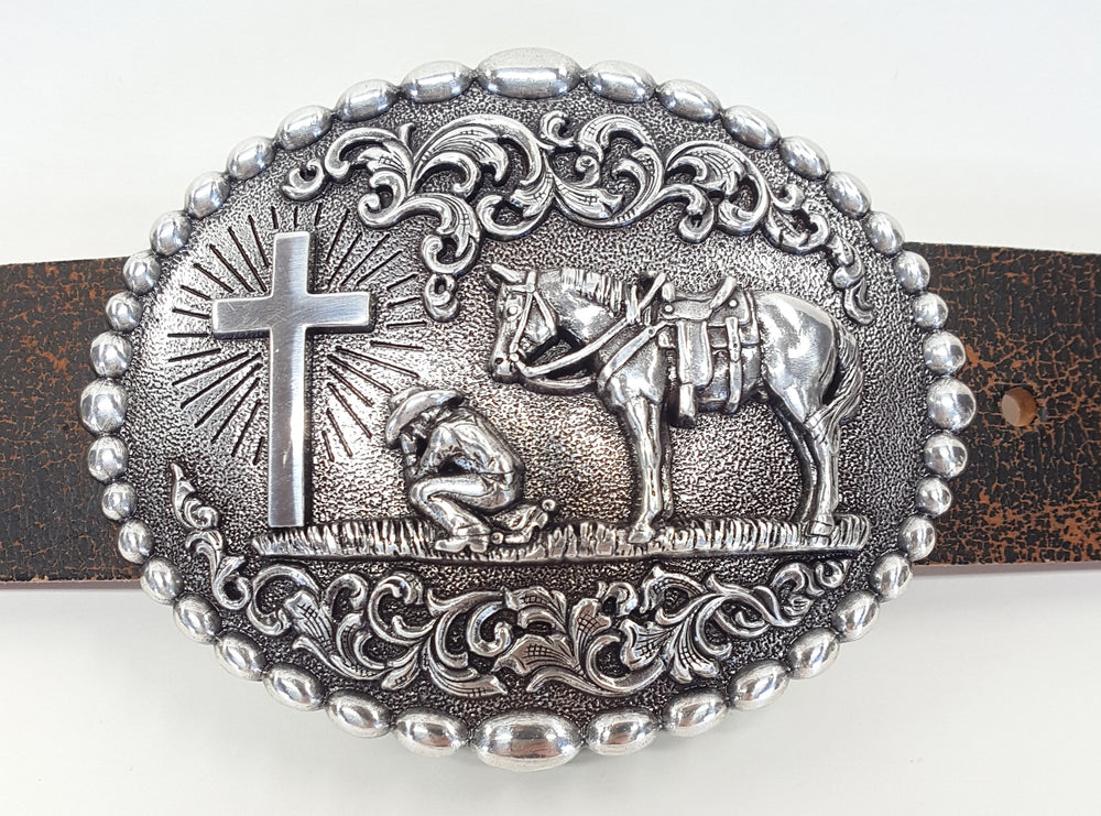 Nocona Praying Cowboy Buckle