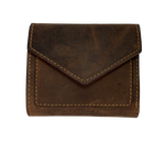 Leather Compact Bifold Style Wallet with 9 card slots, cash and coin pocket,  A convenient way to keep everything you need in one place! Imported and Buckle and Hide Approved! Available in Distressed Brown, Turquoise.