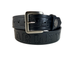 Buffalo Nickel Black Bridle Belt