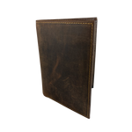Distressed Brown RFID Passport Wallet