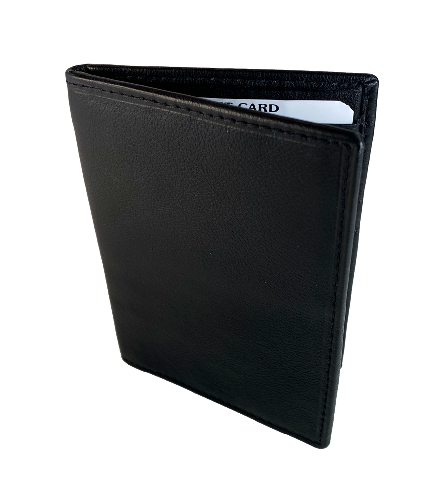 RFID Black Passport Wallet