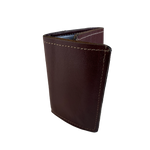 ALL Leather Tri-fold wallet with one card pocket, one ID pocket, one photo sleeve, and 1 cash slot. ALL LEATHER wallets are different than mass produced types. They are thicker due to the construction. More durable because it's ONLY leather and thread! Buckle and Hide approved! Sold at our shop in Smyrna, TN.